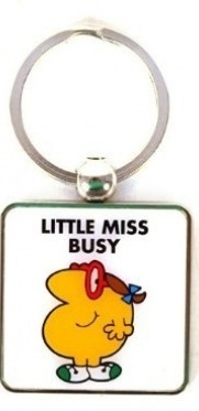 Little Miss Busy Keyring