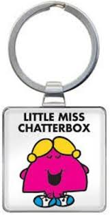Little Miss Chatterbox Keyring