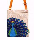 Eco Corner Small Orange Dancing Peacock Sling Bag