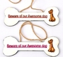 IVEI Beware of Our Awesome Dog (Set of 2)