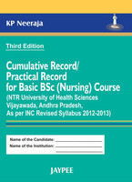 Cumulative Record / Practical Record for Basic B.Sc. Nursing Course 3rd  Edition