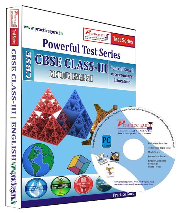 Practice Guru Class 3 - Maths, EVS and English Combo