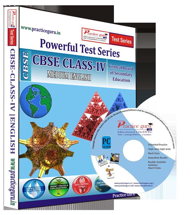 Practice Guru Class 4 - Maths, EVS and English Combo