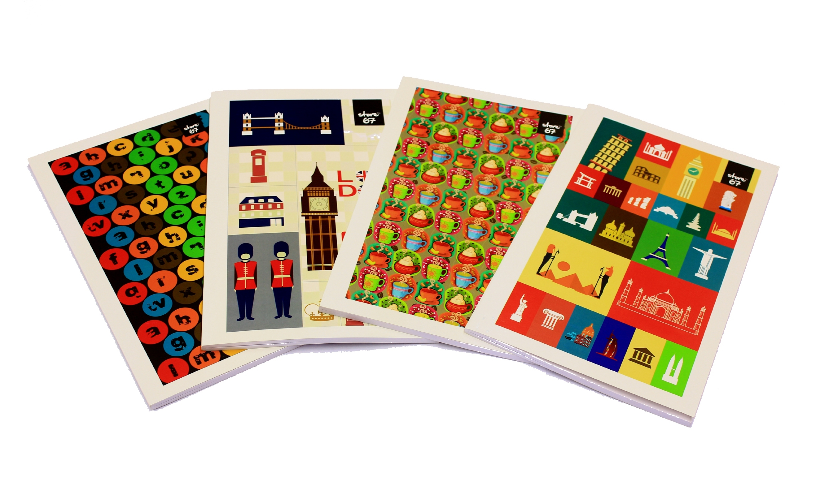 Store67 A4 Note Book - Single Ruled (320 Pages)