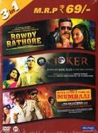 Rowdy Rathore / Joker / Once upon a Time in Mumbai (3 in 1)