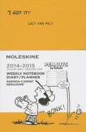 Moleskine 2015 Peanuts Limited Edition Weekly Notebook, 18 Month, Pocket, Orange Yellow, Hard Cover (3.5 X 5.5)