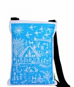 Eco Corner Blue Warli Cotton Bag