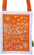 Eco Corner Orange Warli Cotton Sling Bag