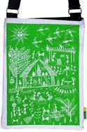 Eco Corner Small Green Warli Cotton Sling Bag
