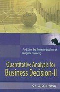 Quantitative Analysis For Business Decision 2 For Bcom 3 Sem : Bu