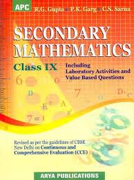 Secondary Mathematics Class 9 1 & 2 Term : Cce Cbse