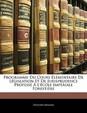 Programme Du Cours Lmentaire de Lgislation Et de Jurisprudence Profess L'Cole Impriale Forestire