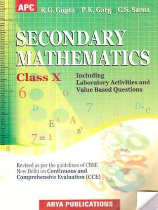 SECONDARY MATHEMATICS CLASS 10 CCE CBSE