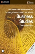 Cambride International As & A Level Business      Studies W/Cd