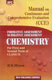 Manual on Continuous and Comprehensive Evaluation (CCE) Chemistry Class-IX