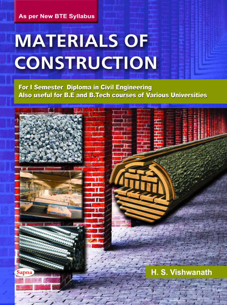 Materials Of Construction : For 1st Sem Diploma In Civil Engineering & Be Btech