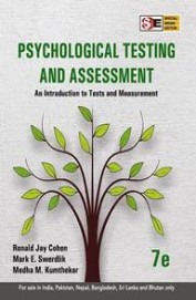 Psychological Testing And Assessment: And Intro-   Duction To Tests And Measurement