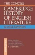 Concise Cambridge History Of English Literature
