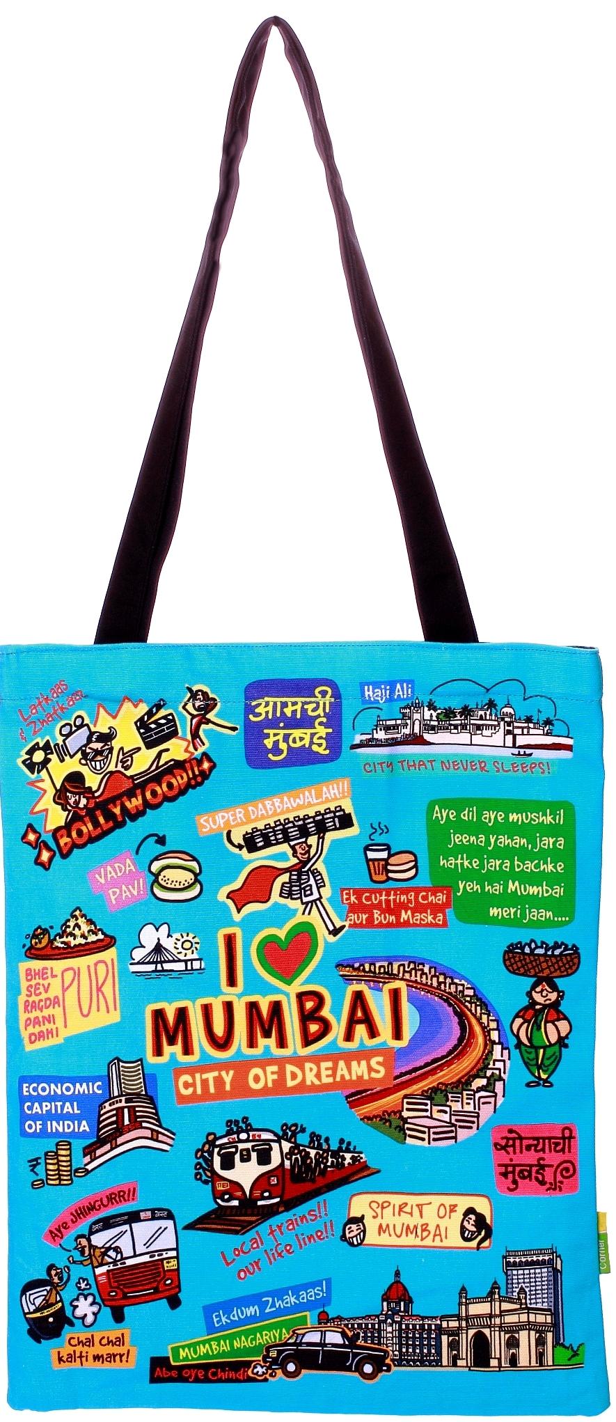 Eco Corner Small Coloured Mumbai Cotton Bag