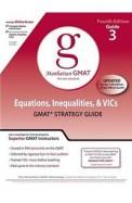 Equations Inequalities & Vics - Manhattan Gmat    Guide 3