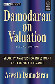 DAMODARAN ON VALUATION : SECURITY ANALYSIS FOR    INVESTMENT and CORPORATE FINANCE