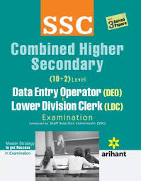 SSC Combined Higher Secondary Data Entry Operator Lower Division Clerk Ldc Exam: Code J269