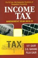 Income Tax Bcom 6 Sem - Bu Assessment Year 2014-15