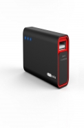 Portronics Charge Mini 2600 MAH (Black-Red) POR - 356